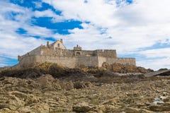 Fort Nationaal in Heilige Malo, Frankrijk Stock Foto's