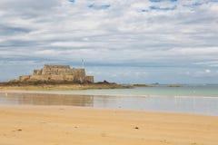 Fort Nationaal in Heilige Malo, Frankrijk Stock Foto