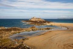 Fort Nationaal in Saint Malo, Frankrijk Stock Foto's
