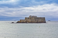 Fort National - fortress on tidal island Stock Image
