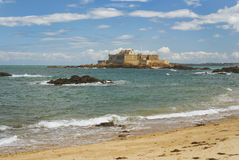 Fort National in Saint-Malo Stock Photos