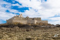 Fort National in Saint Malo, France Stock Photos