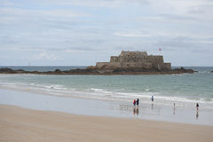 Fort National in Saint Malo (France). Stock Images