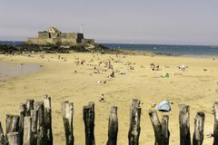 Fort National at Saint Malo. Photo of Fort National at Saint Malo in Bretagne royalty free stock photography