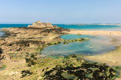Fort National at Saint Malo. Photo of Fort National at Saint Malo, Bretagne stock image