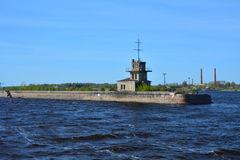 Fort near Kronstadt, St. Petersburg, Russia. Fort near Kronstadt in the Gulf of Finland, St. Petersburg, Russia Royalty Free Stock Image