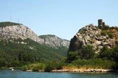 The fort near Omis, Croatia Stock Photo