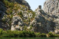 The fort near Omis, Croatia Royalty Free Stock Photos