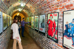 Fort No. 5. KALININGRAD, RUSSIA - JUNE 27, 2015: Exhibition of posters of the Second world war, at Fort No. 5 in Kaliningrad Royalty Free Stock Image