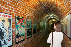 Fort No. 5. KALININGRAD, RUSSIA - JUNE 27, 2015: Exhibition of posters of the Second world war, at Fort No. 5 in Kaliningrad Stock Photo