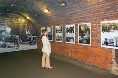 Fort No. 5. KALININGRAD, RUSSIA - JUNE 27, 2015: exhibition of posters of the war in the premises of the Fort number 5 in Kaliningrad Stock Photos