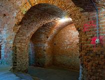 Fort No. 5. KALININGRAD, RUSSIA - JUNE 27, 2015: The interior of the Fort №5 Royalty Free Stock Photography