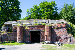 Fort No. 5. KALININGRAD, RUSSIA - JUNE 27, 2015:  Fort No. 5  King Frederick Wilhelm III in Kaliningrad. The entrance to the Museum Royalty Free Stock Image