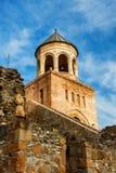 Fort och vägg av Svetitskhoveli den ortodoxa domkyrkan i Mtskheta, Georgia Royaltyfri Foto