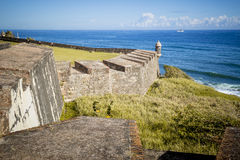 Fort in old San Juan, Puerto Rico. Fort in old San Juan royalty free stock photography