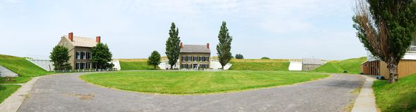 Fort Ontario panorama. Oswego, New York, USA Stock Photos