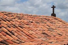 Fort Orange - cross. Itamaraca Island, Fort Orange, Pernambuco, Brazil, church roof detail stock images