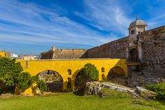 Fort in Peniche - Portugal. Architecture background royalty free stock images