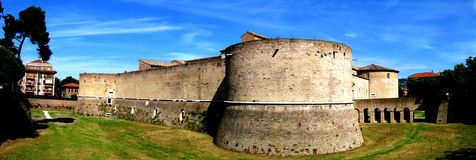 Fort of Pesaro. Panoramic view of Pesaros fort in Italy Royalty Free Stock Photo