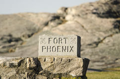 Fort Phoenix, Fairhaven, Massachusetts Royaltyfria Foton