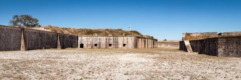 Fort Pickens State Park Panorama Stock Photography