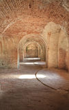 Fort Pickens sun-filled chamber Royalty Free Stock Photos