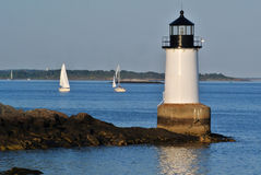 FORT PICKERING LIGHTHOUSE SALEM MA royalty free stock image