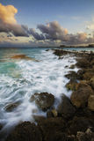 Fort Pierce Jetty. Jetty in Florida during sunset on the Atlantic Ocean Stock Photos