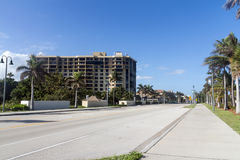 Fort Pierce A1A road Stock Photos