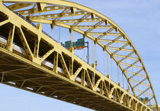 Fort Pitt Bridge. In Pittsburgh, PA Royalty Free Stock Images