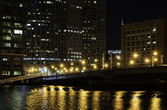 Fort Point Channel before sunrise Royalty Free Stock Image