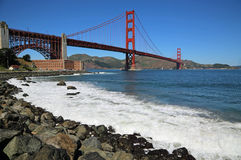 Fort Point and Golden Gate Bridge Stock Images