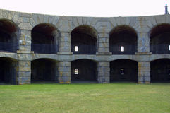 Fort Popham, Pippsburg Maine USA Arkivbild