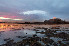 Fort Popielaty Guernsey Fotografia Stock