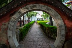 The Fort Provintia in Tainan, Taiwan. royalty free stock photo
