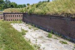 Fort prussien historique à Danzig - en Pologne photo libre de droits