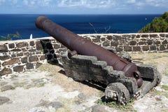 Fort przy Gołębią wyspą, St Lucia Zdjęcia Stock