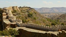 Fort przy Kumbhalgarh Zdjęcia Stock