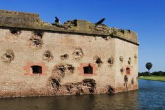 Fort Pulaski royalty free stock image