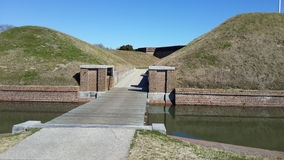 Fort Pulaski Georgië Stock Foto
