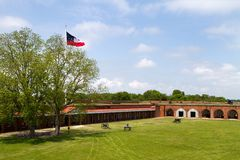 Fort Pulaski Parade Grounds Royalty Free Stock Image