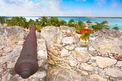 Fort Quintana Roo Mexique de Bacalar San Felipe images stock