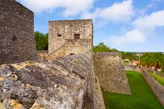 Fort Quintana Roo Mexique de Bacalar San Felipe photos libres de droits