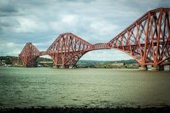 Fort rail bridge in South Queensferry near Edinburgh, Scotland Royalty Free Stock Images