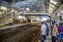 Fort Railway Station in Colombo, Sri Lanka Royalty Free Stock Photos