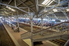 Fort Railway Station in Colombo, Sri Lanka Stock Image