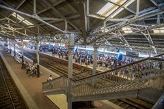 Fort Railway Station in Colombo, Sri Lanka Royalty Free Stock Photo