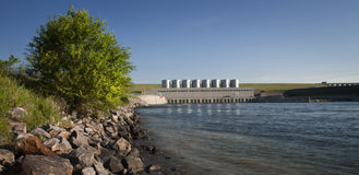 Fort Randall Dam - South Dakota Arkivbilder