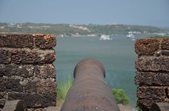 Fort Reis Magos in Goa Royalty Free Stock Image