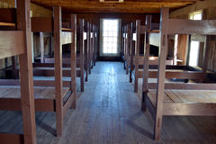 Fort Richardson Military Barracks. Visitors may tour the original buildings from the days when Fort Richardson in Texas was a military outpost guarding settlers Stock Photo